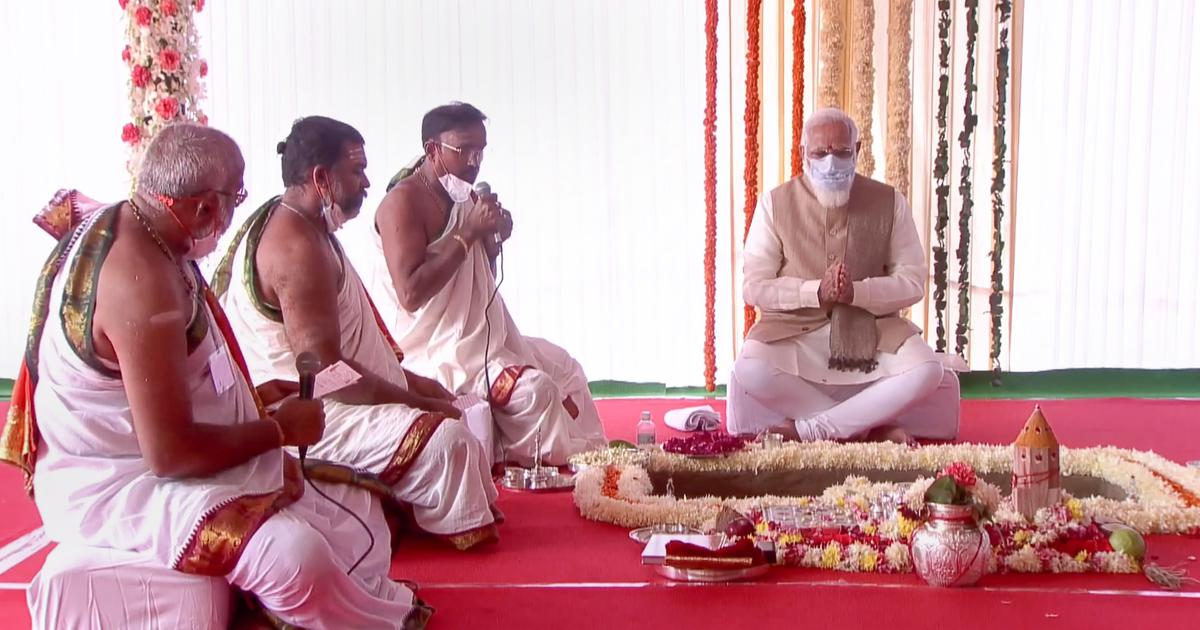 At ceremony for new Parliament building, Modi spoke of democracy – to cover up the absence of it