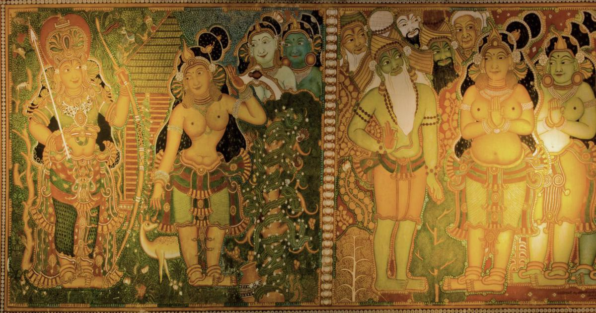 Weekend Quiz: Which 4th-century epic Sanskrit drama does this mural portray?