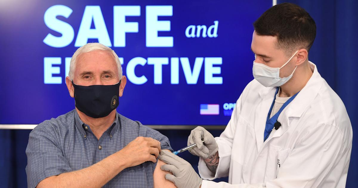 Coronavirus: US Vice President Mike Pence, his wife receive Pfizer's vaccine shots