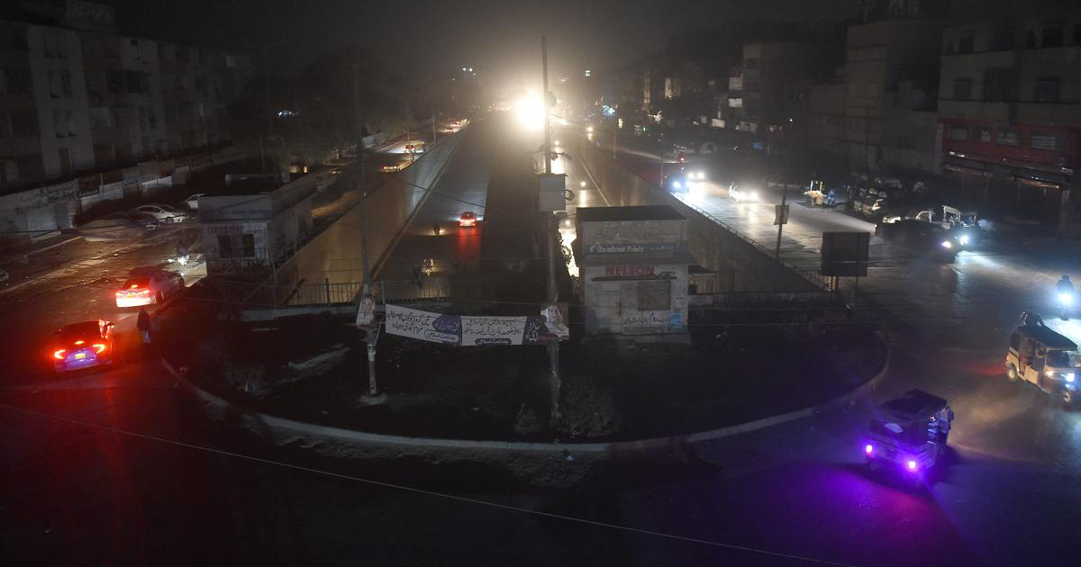 Massive blackout in Pakistan, energy minister blames sudden frequency drop in power system