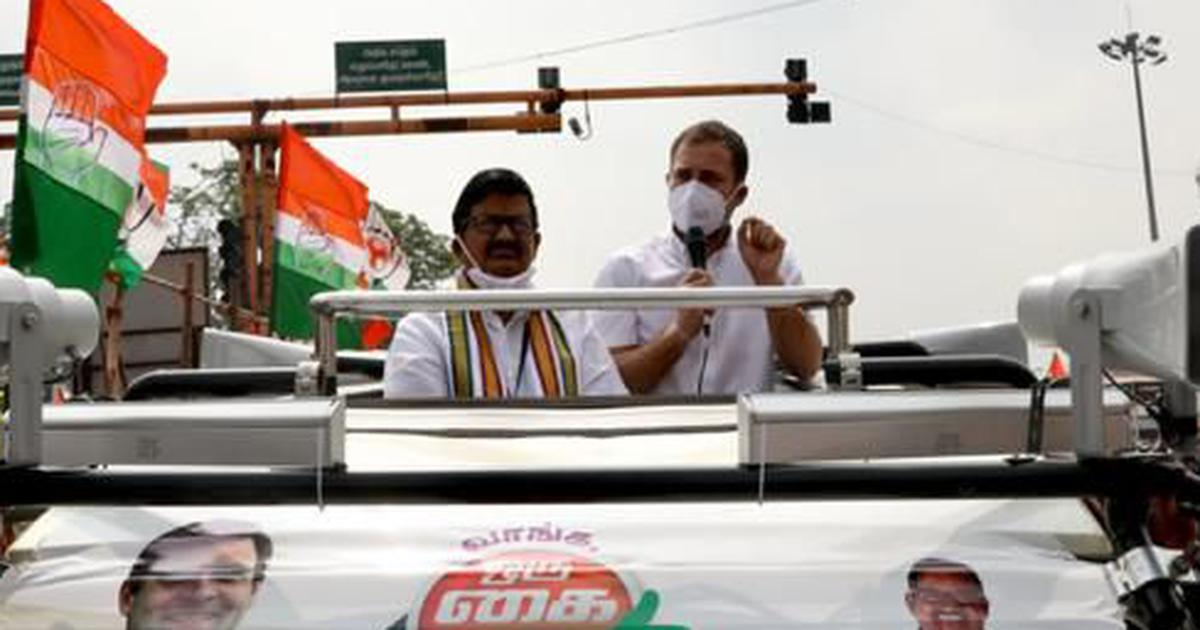 TN polls: Rahul Gandhi launches Congress campaign, says Modi doesn't respect state language, culture