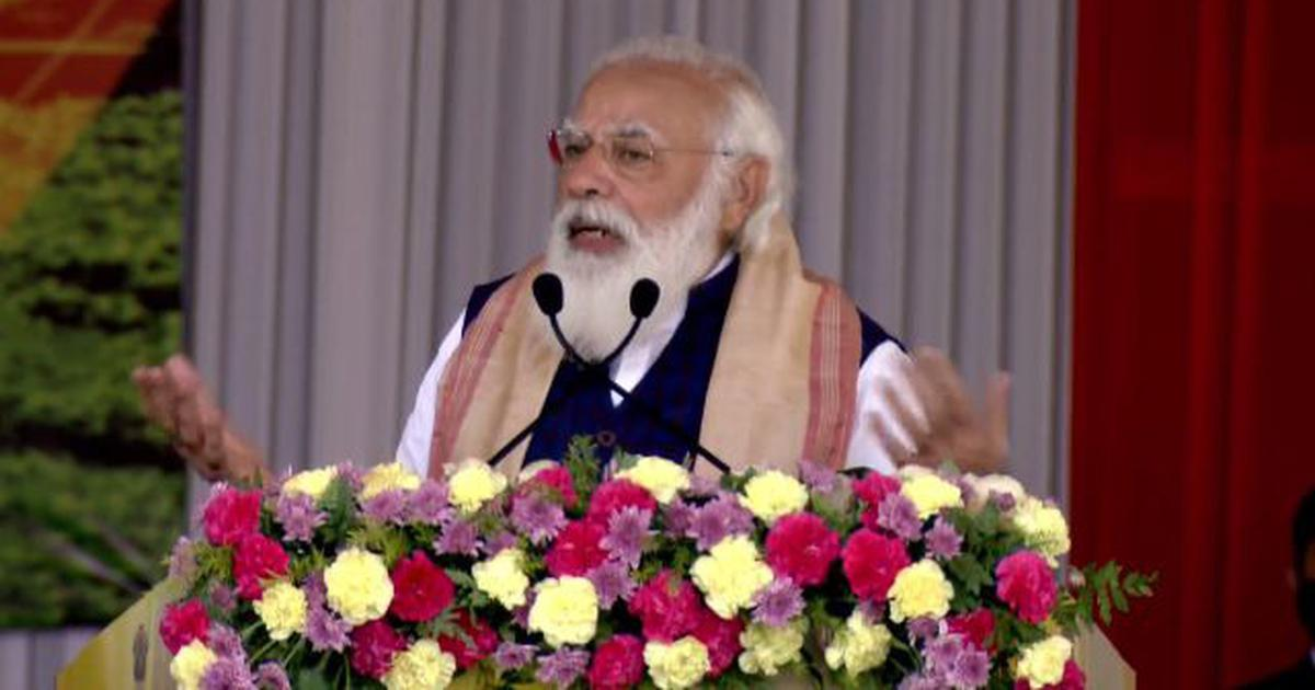 Assam: Modi criticises previous governments, says they deprived indigenous people of land rights