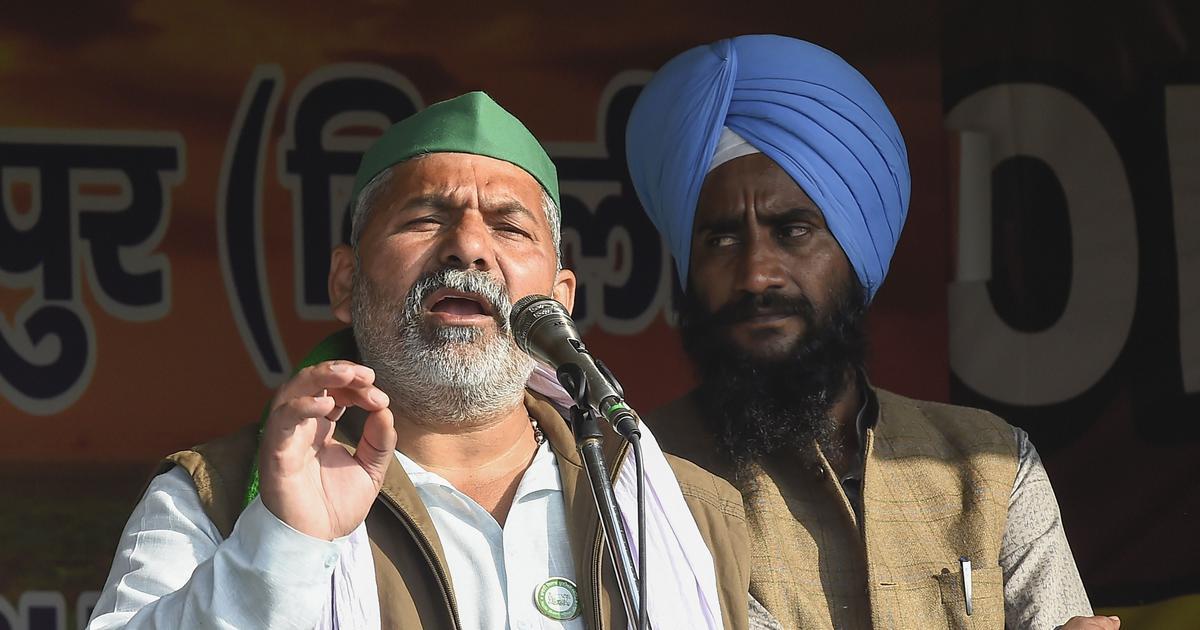 Farm law stir: Rakesh Tikait calls for talks, says won't agree to Centre's terms under pressure