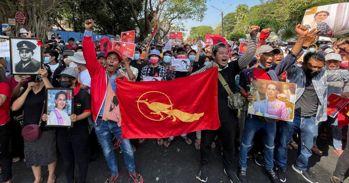 Myanmar military coup: Protests continue as thousands hit streets amid internet blockade