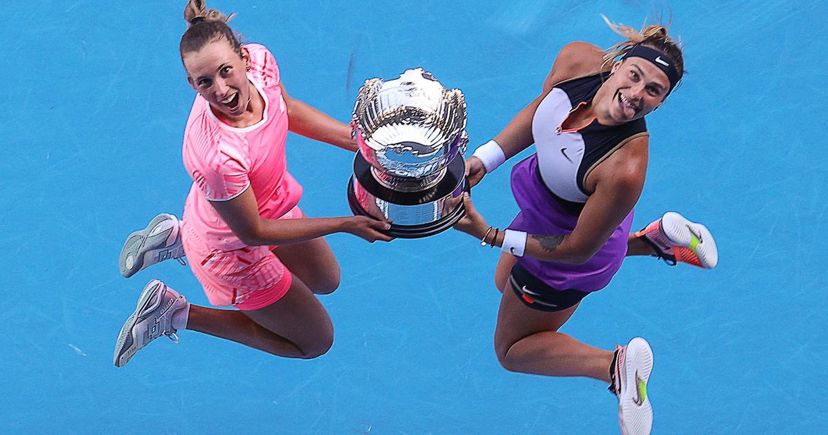 Australian Open: Aryna Sabalenka-Elise Mertens win women's doubles for second Grand Slam together