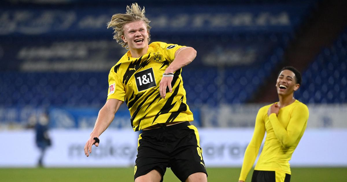 Watch: Erling Haaland's acrobatic volley in Bundesliga is a strong goal of the season contender