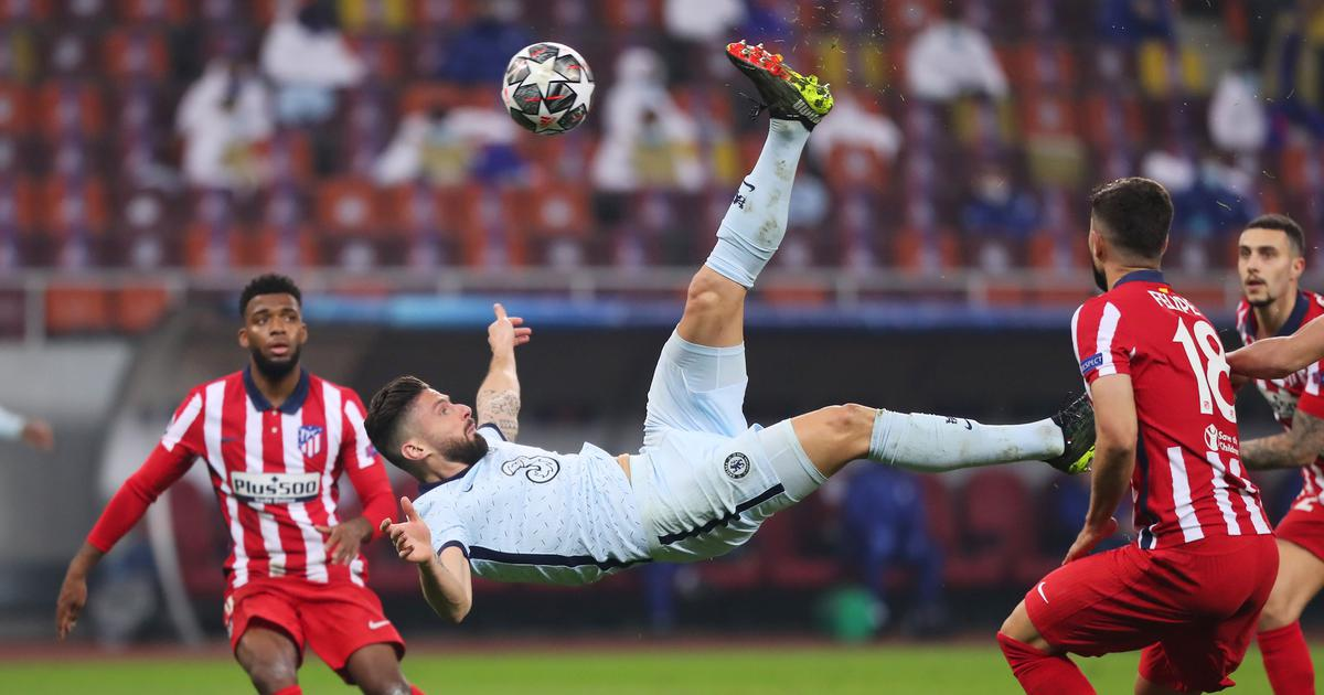 Champions League: Giroud scores sensational goal to give Chelsea edge over Atletico Madrid