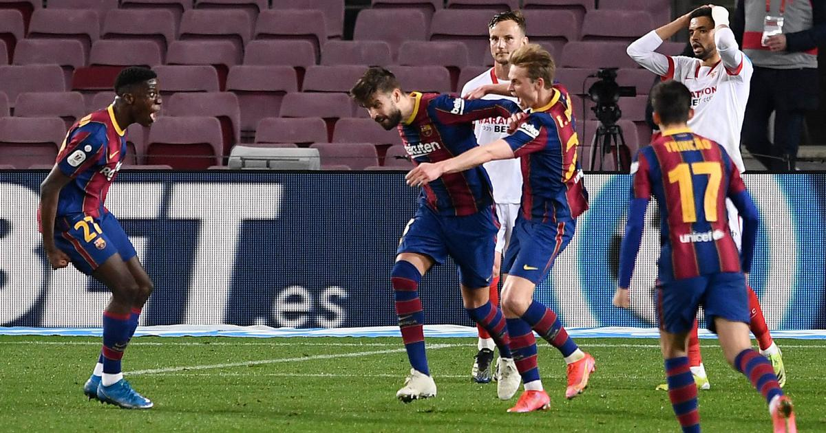 Copa del Rey: Barcelona complete epic comeback against Sevilla after extra time to reach final