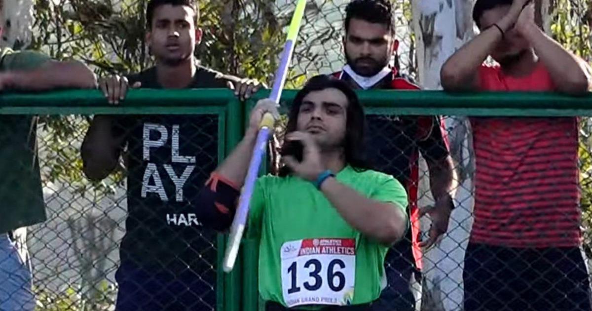 Indian athletics: Javelin thrower Neeraj Chopra breaks his own national record on return to action