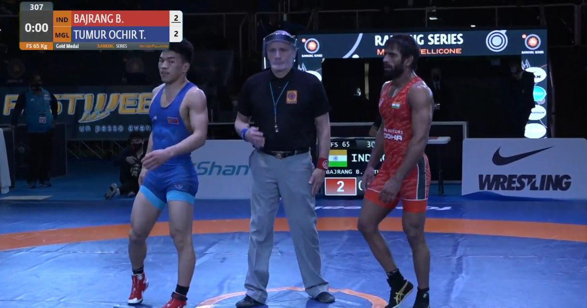 Wrestling: India's Bajrang Punia clinches gold medal with late comeback at Rome ranking event