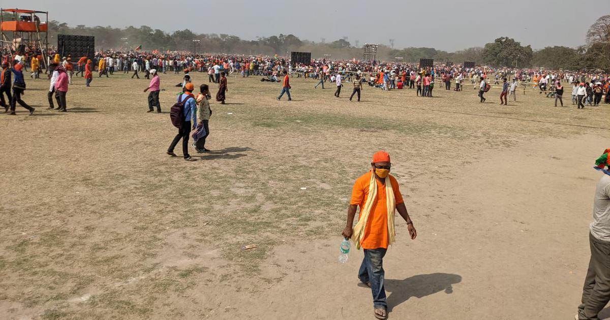 Why the small turnout at Modi's Kolkata rally should not worry the BJP