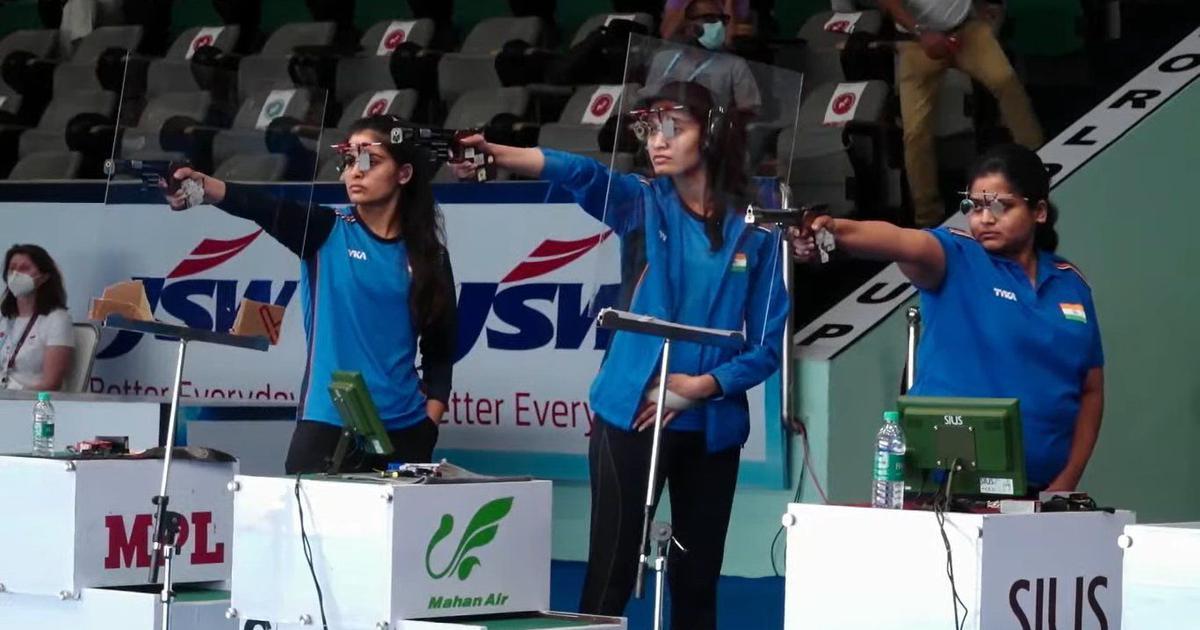 Delhi Shooting World Cup: Chinki Yadav, Rahi Sarnobat, Manu Bhaker clinch team gold in 25m pistol