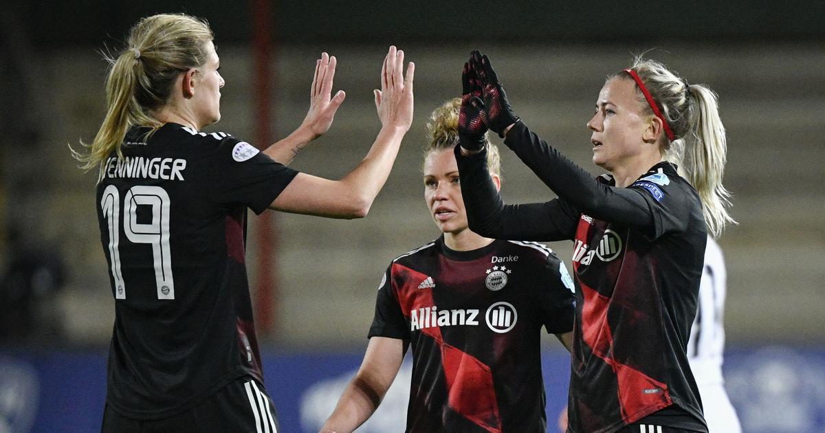 Women's Champions League: Lea Schuller on target as Bayern Munich beat Rosengard to reach semis