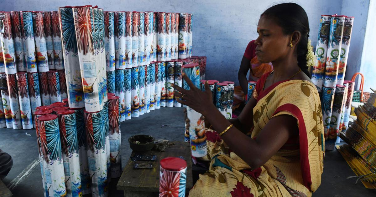 In Tamil Nadu's fireworks factories, women form 70% of workforce but are paid half as much as men