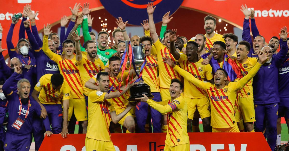 Copa del Rey: Sensational Lionel Messi scores twice to lift trophy for Barcelona