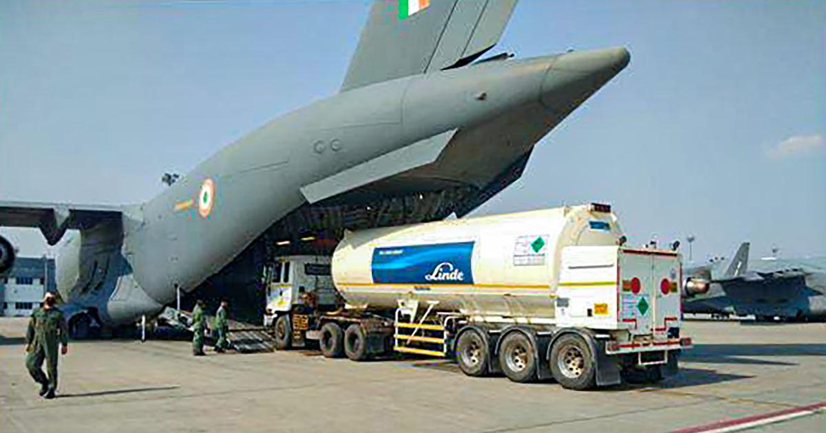 Coronavirus: Air Force begins operations to airlift oxygen tankers amid severe crisis