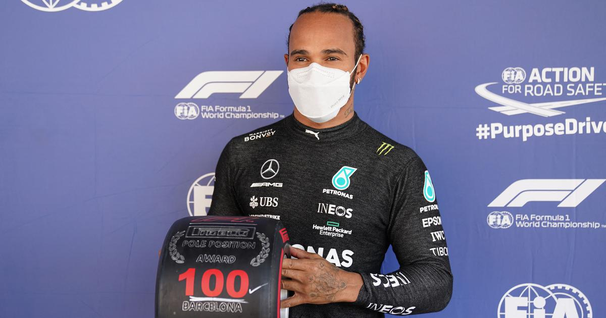 'It's like my first': Century for Lewis Hamilton as he reaches 100th pole to extend record