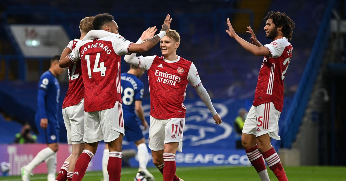 Premier League: Chelsea slip up in top-four race as Arsenal record rare win at Stamford Bridge