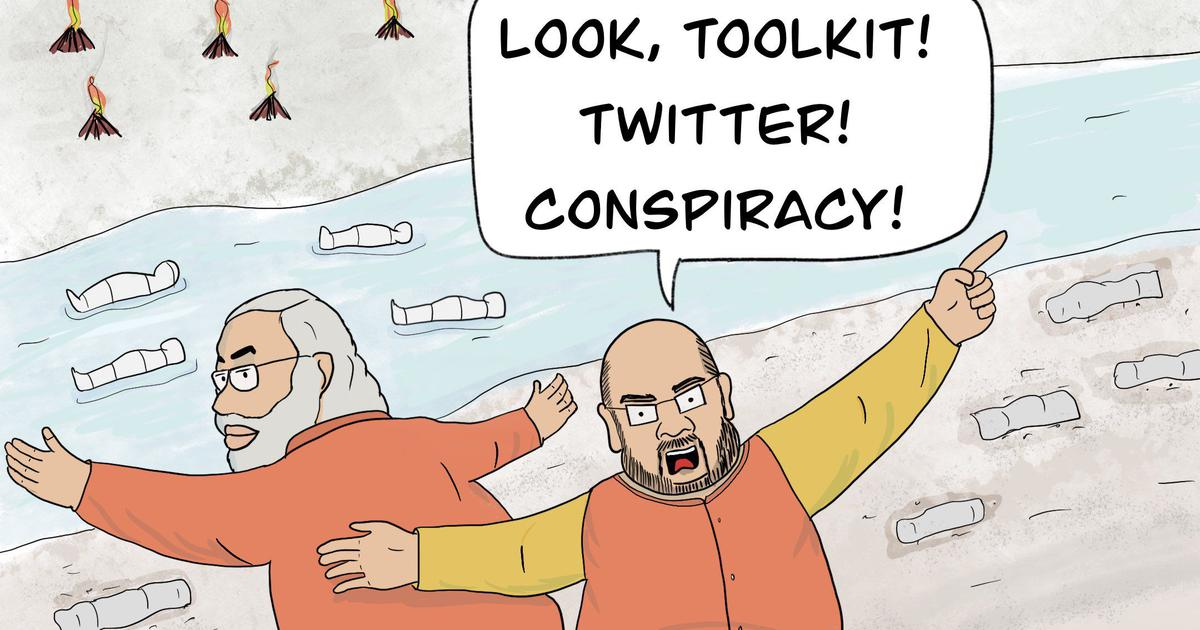 An anonymous artist is chronicling Modi government's ruinous Covid-19 response with wit and satire