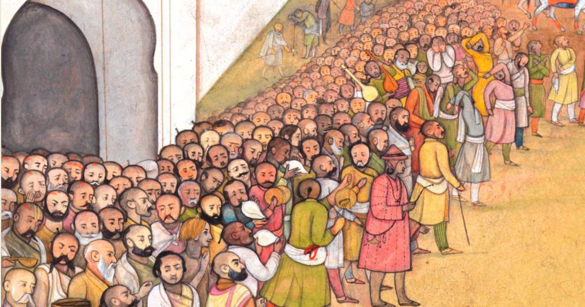 In an 18th-century Pahari painting of Dasratha's funeral, vast vistas of echoing emptiness