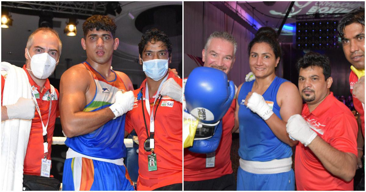 Watch: All the finals of Indian boxers at Asian Championships as Sanjeet, Pooja Rani clinch gold