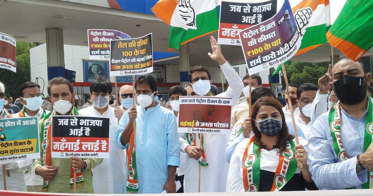 Congress stages countrywide protests against fuel price hike