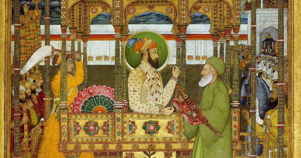 In a resplendent portrait of a Mughal emperor, subtle clues about a dark fall