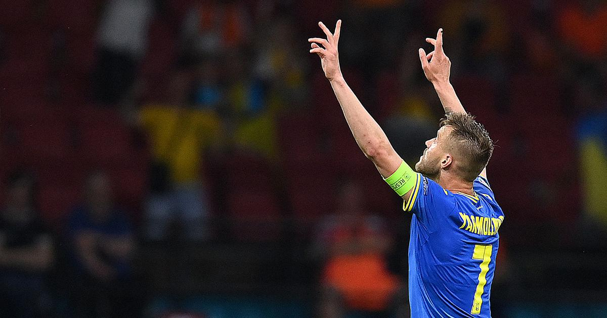 Watch: Ukraine's Andriy Yarmolenko scores an early contender for the best goal of Euro 2020