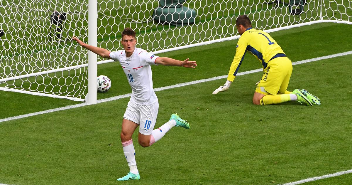Watch: Czech Republic's Patrik Schick scores a goal for the ages from the half-way line at Euro 2020