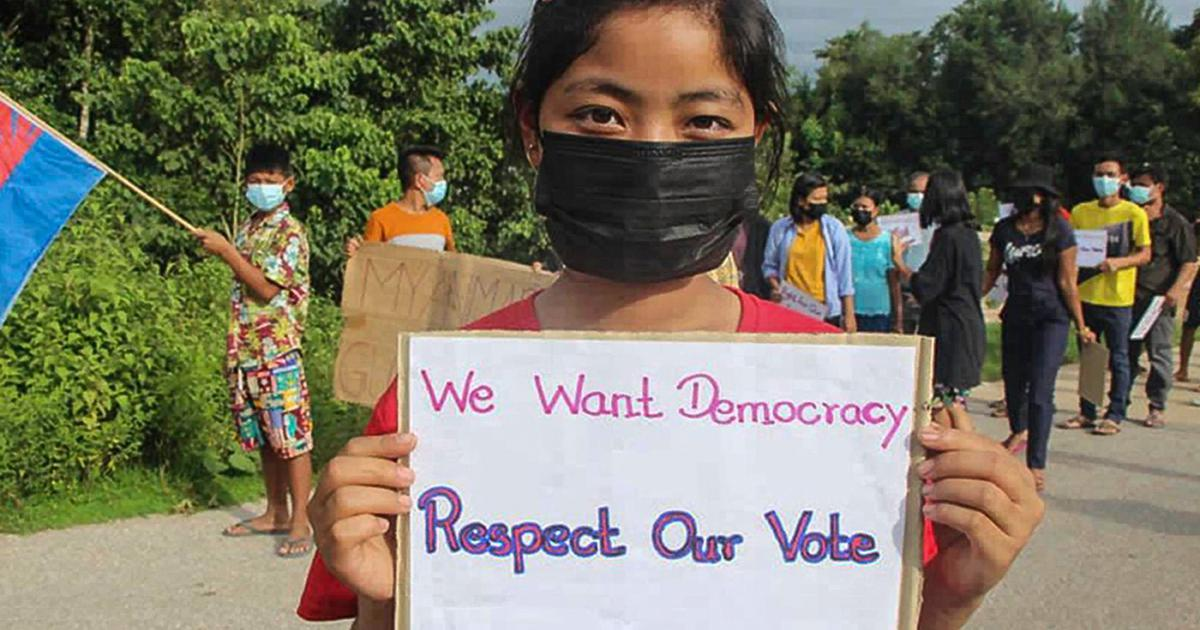 Why did India abstain from voting on the Myanmar resolution at the UN General Assembly?