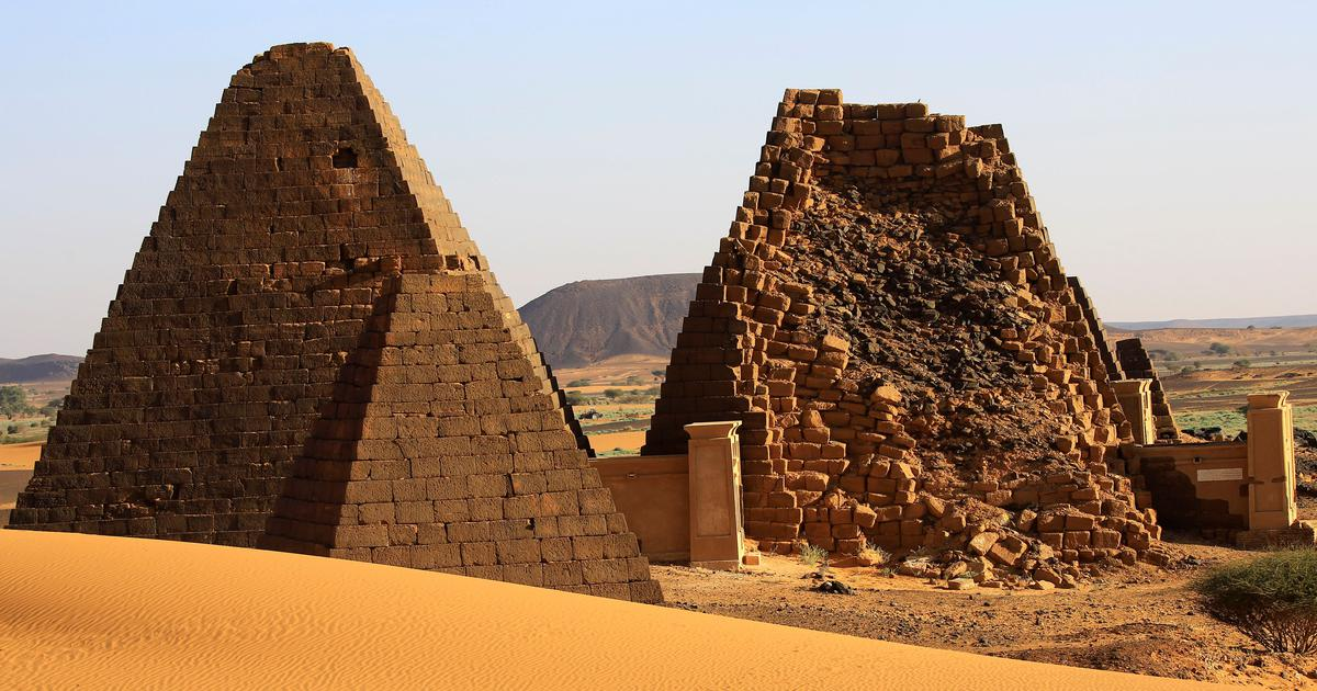 In Sudan, shifting sand dunes threaten the world's largest collection of pyramids