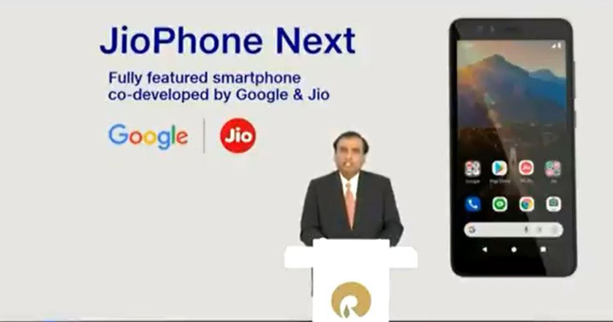 Reliance launches smartphone JioPhone Next, to be available from September 10