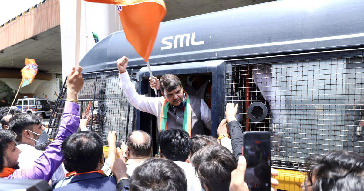 Maharashtra: BJP leader Devendra Fadnavis, party colleagues detained during OBC quota protest