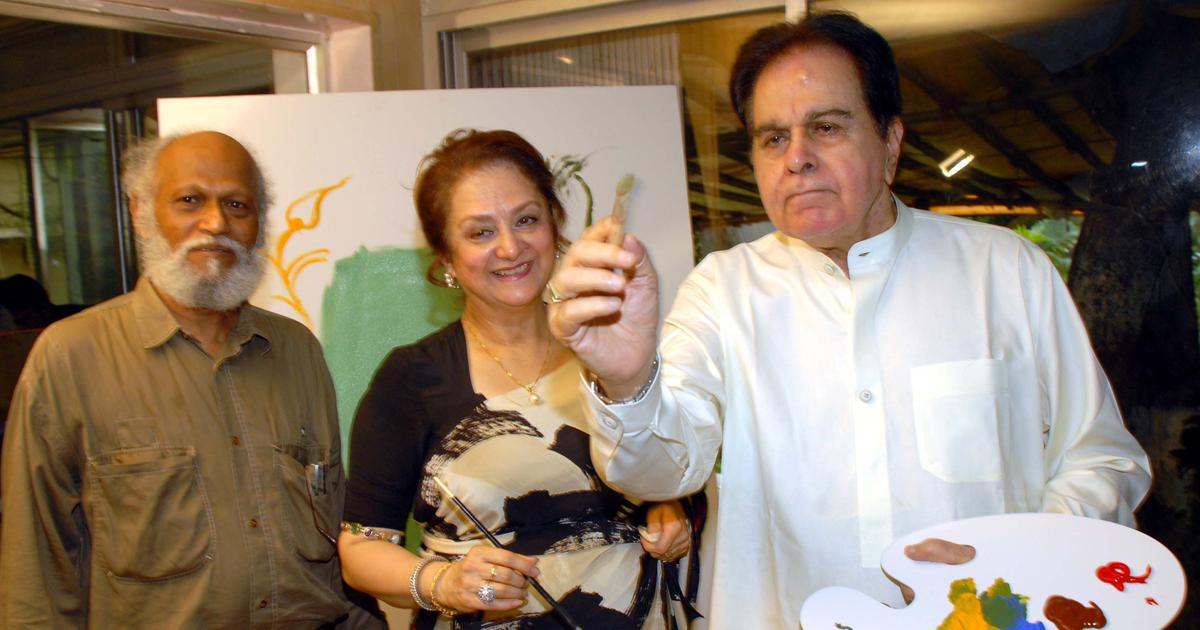 In pictures: When Jatin Das painted Dilip Kumar and Saira Banu