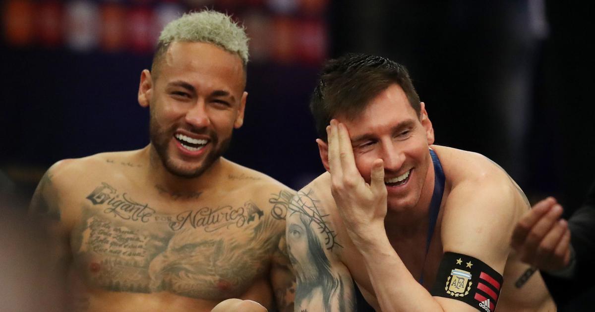 Watch: Former Barcelona teammates Messi, Neymar share warm embrace after Copa America final