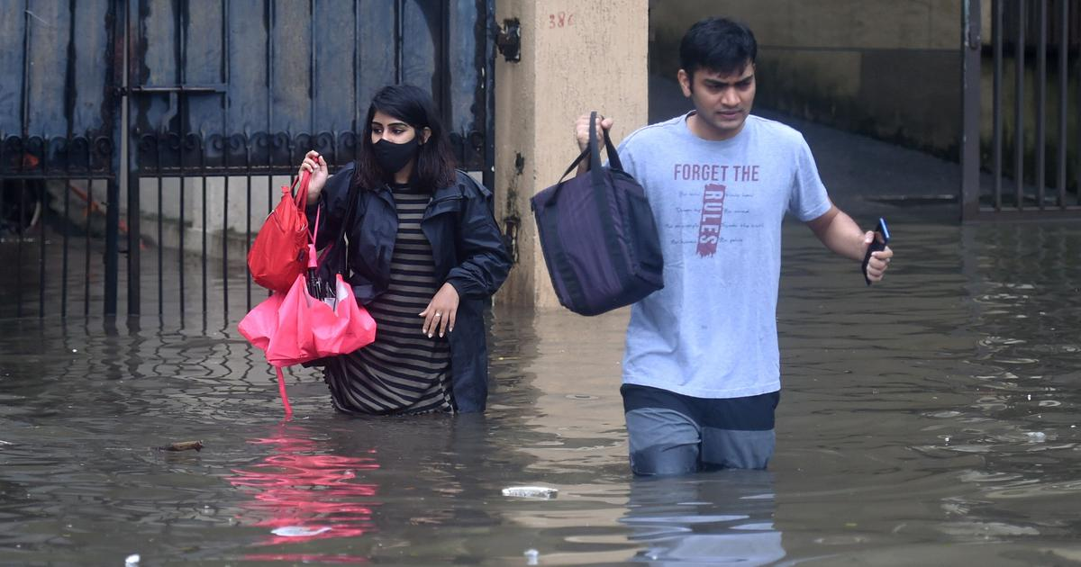 Mumbai rain: Several low-lying areas inundated, local train services hit
