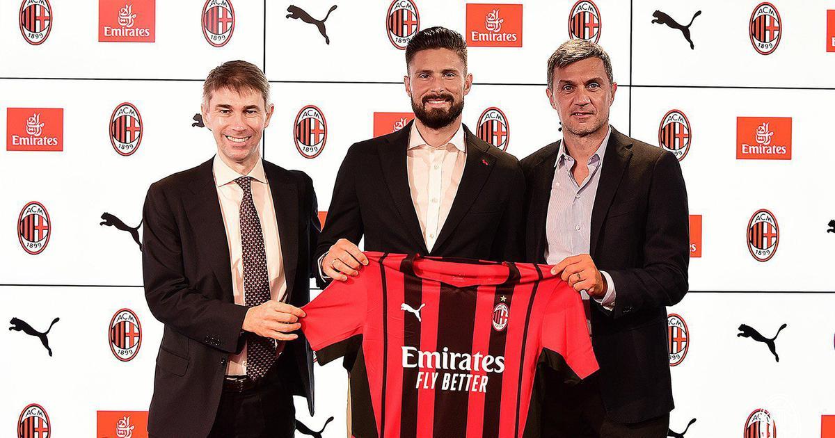 Football: French striker Olivier Giroud joins AC Milan from Chelsea
