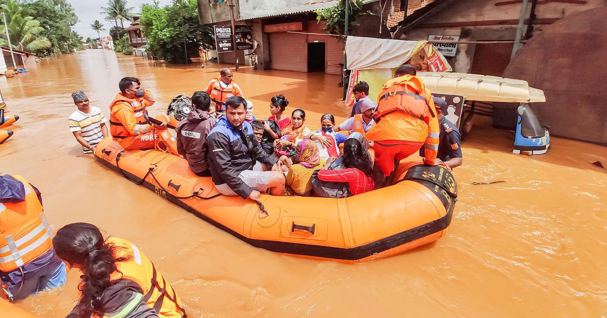Over 130 killed, 90,000 evacuated in Maharashtra as incessant rain causes flooding, landslides