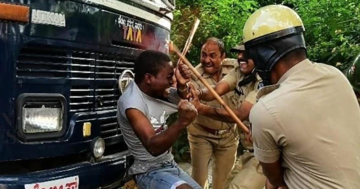Bengaluru: Police clash with foreigners during protest on alleged custodial death of Congolese man