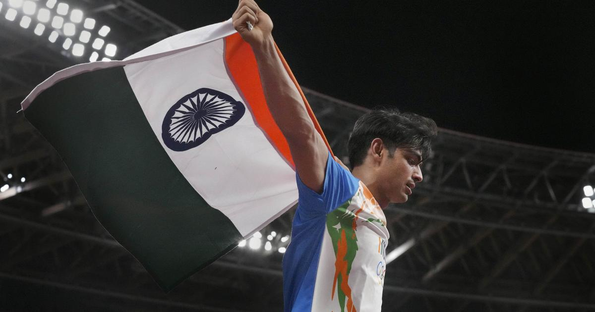 A mighty eighty seven point five eight: Thank you, Neeraj Chopra