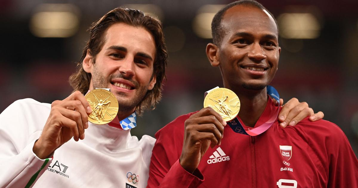 Watch: When two men decided to share the high jump gold medal at Tokyo 2020 - a moment for the ages