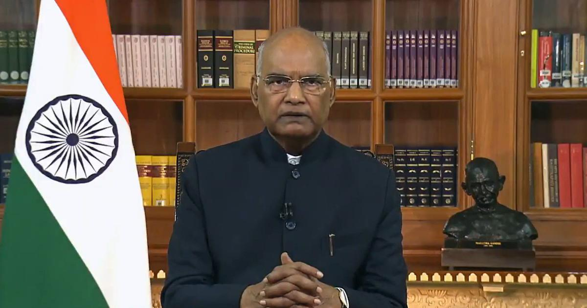 'Parliament is temple of our democracy,' says President Kovind on Independence Day eve speech