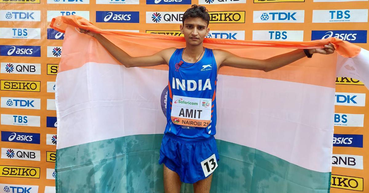 World U20 Athletics C'ships: India's Amit Khatri wins silver medal in men's 10,000 race walk