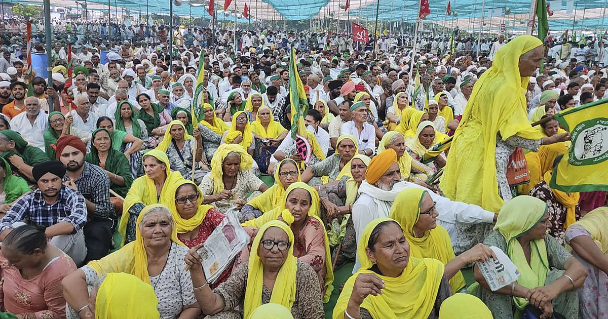 Farmers hold meeting in Muzaffarnagar, resolve to mobilise against BJP ahead of polls in UP