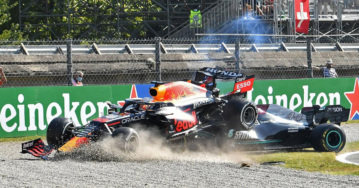 'Thank goodness for the Halo': Verstappen and Hamilton crash out of Italian GP after nasty incident