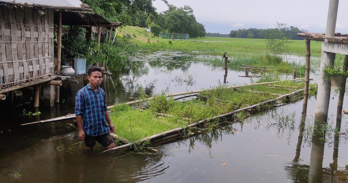 On the world's largest river island in Assam, floating farms are boosting flood resilience
