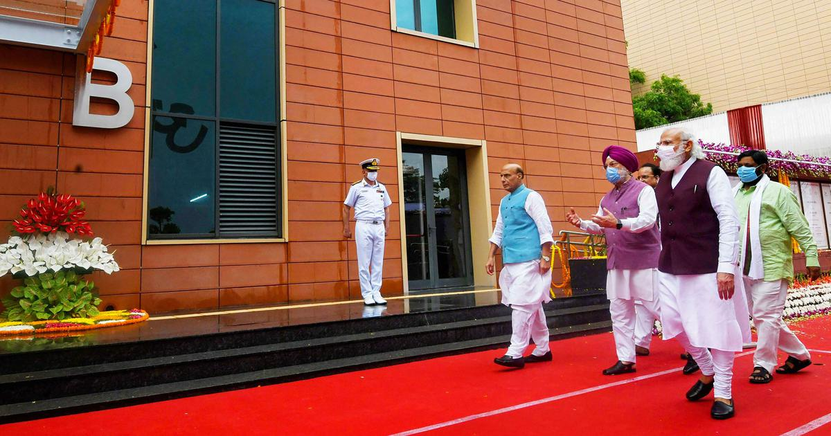 Central Vista: Opposition cares about 'personal agendas', says PM as he inaugurates defence offices