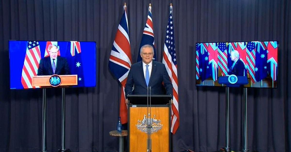Australia signs nuclear submarine deal with US, UK, faces objection from France