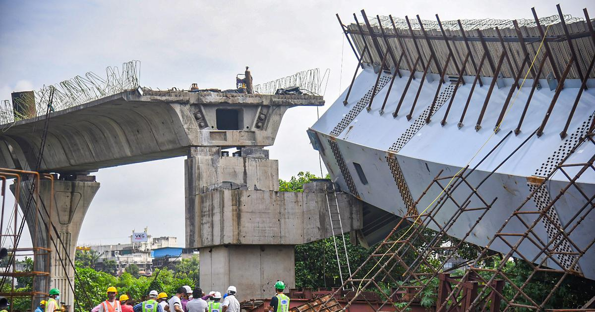 Mumbai: 14 workers injured as flyover under construction collapses in Bandra Kurla Complex area