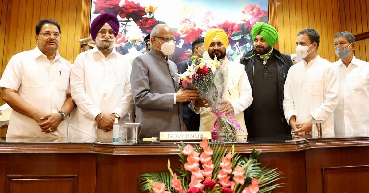 Charanjit Singh Channi takes oath as Punjab chief minister